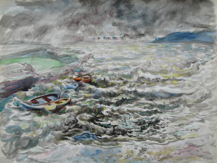 Boris Taslitzky Dessins Paysages